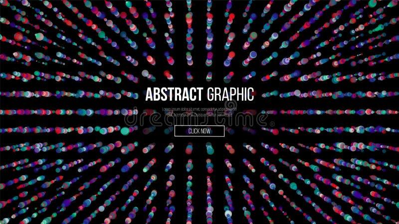 Κυματιστό αφηρημένο γραφικό σχέδιο Σύγχρονη αίσθηση του υποβάθρου επιστήμης και τεχνολογίας επίσης corel σύρετε το διάνυσμα απεικ διανυσματική απεικόνιση