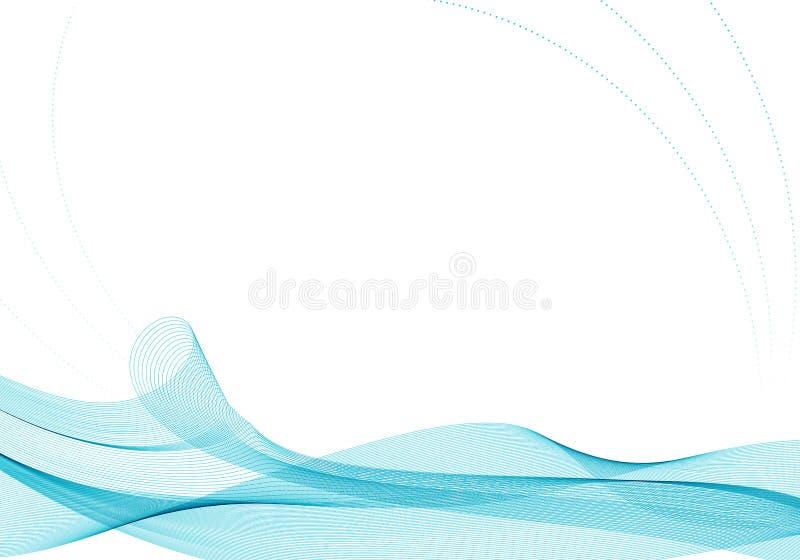 Κυματιστό αφηρημένο υπόβαθρο στο τυρκουάζ χρώμα ελεύθερη απεικόνιση δικαιώματος