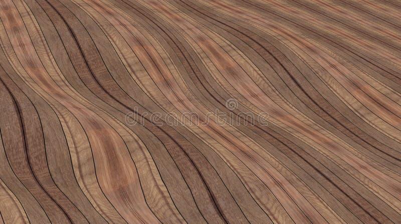 Κυματιστό ξύλινο πάτωμα, καφετί υπόβαθρο στοκ εικόνες
