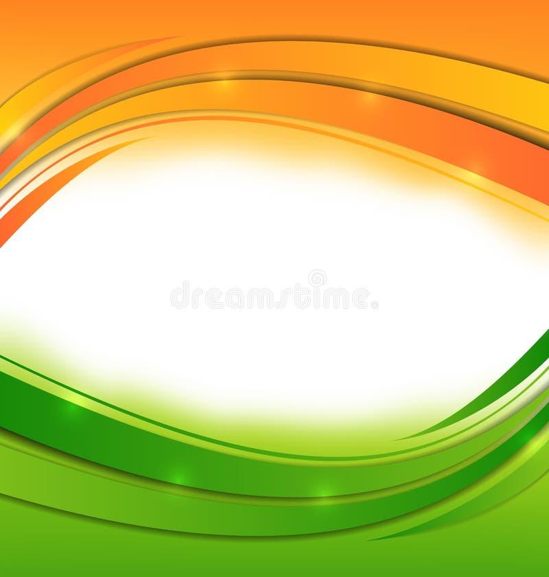 Κυματιστό υπόβαθρο για τις ινδικές διακοπές διανυσματική απεικόνιση