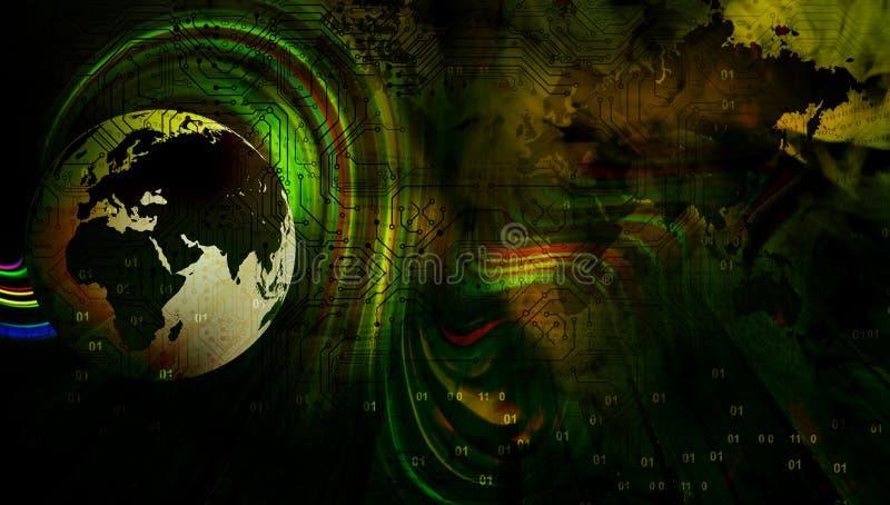 Κυματιστό υπόβαθρο επιχειρησιακών εμβλημάτων παγκόσμιας τεχνολογίας Συνδεδεμένη παγκόσμια σφαίρα Google τεχνολογίας r διανυσματική απεικόνιση