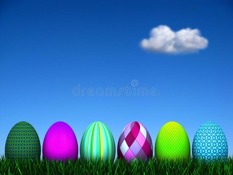 κυνήγι αυγών Πάσχας διανυσματική απεικόνιση