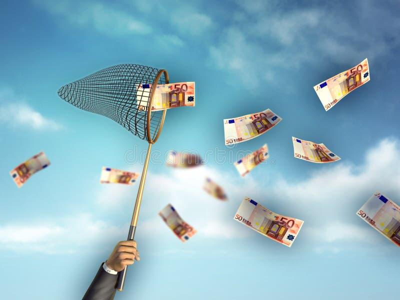 κυνήγι των χρημάτων διανυσματική απεικόνιση