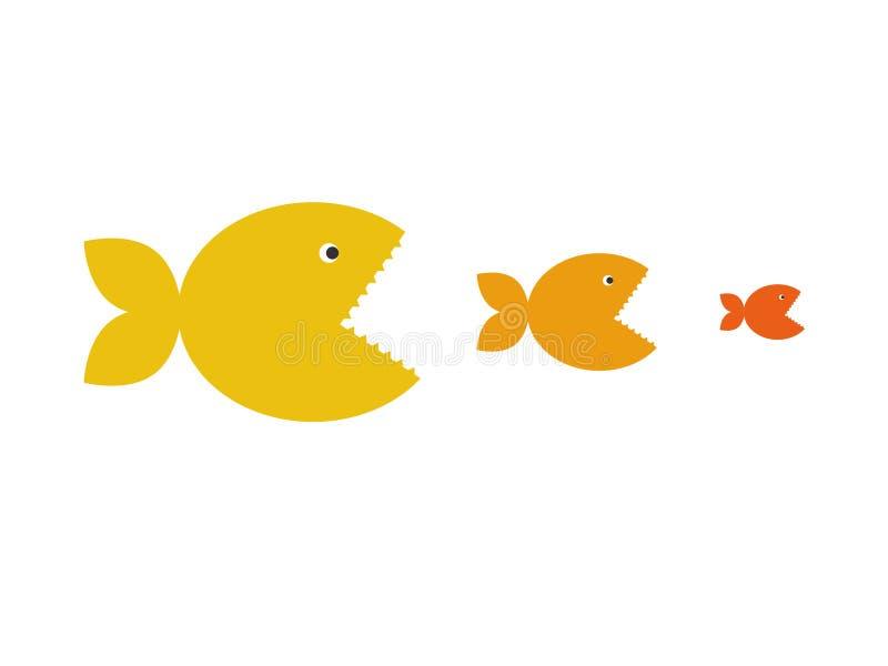 κυνήγι ψαριών διανυσματική απεικόνιση