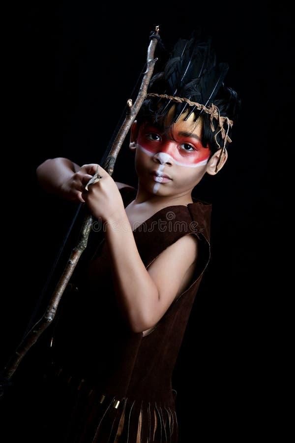 Κυνηγός αμερικανών ιθαγενών στοκ φωτογραφία με δικαίωμα ελεύθερης χρήσης