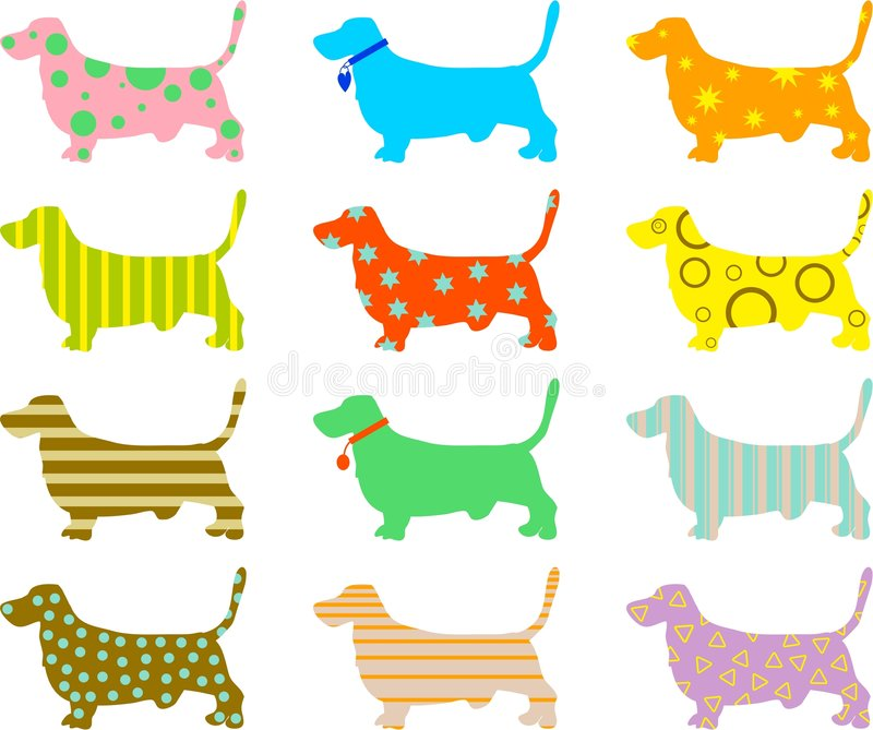 κυνηγόσκυλο σκυλιών πο διανυσματική απεικόνιση