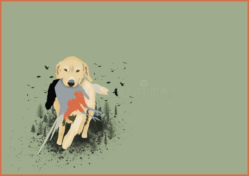 Κυνηγώντας σκυλί απεικόνιση αποθεμάτων