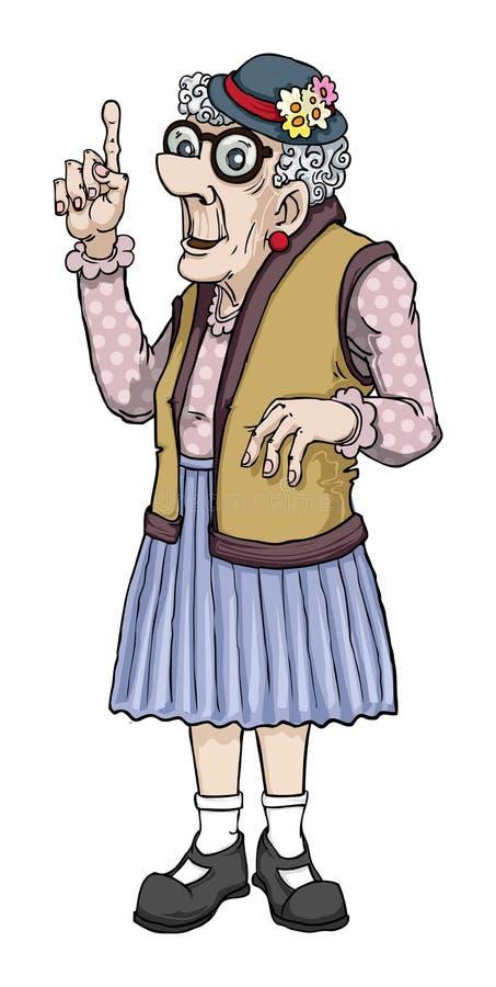 κυρία γηραιή ελεύθερη απεικόνιση δικαιώματος