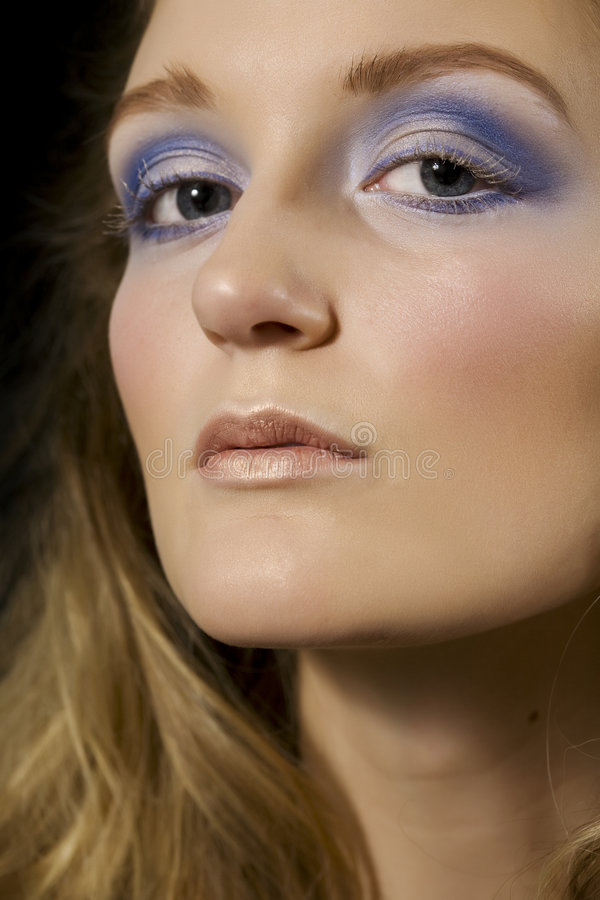 κυρία γοητείας makeup στοκ φωτογραφίες με δικαίωμα ελεύθερης χρήσης