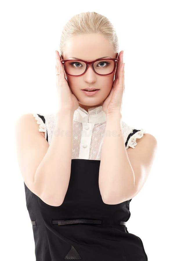 κυρία γυαλιών στοκ φωτογραφίες