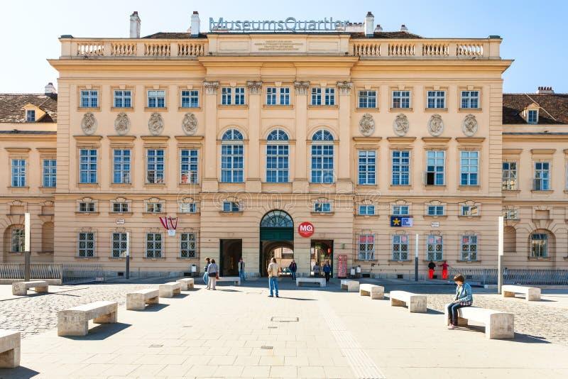 Κυρία είσοδος του τετάρτου μουσείων, Βιέννη στοκ εικόνες