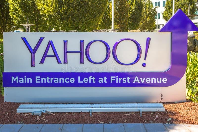 Κυρία είσοδος του Yahoo στοκ φωτογραφίες με δικαίωμα ελεύθερης χρήσης