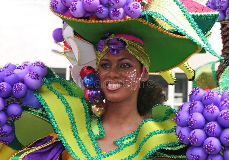 Κυρία σε καρναβάλι Ρότερνταμ στοκ φωτογραφίες