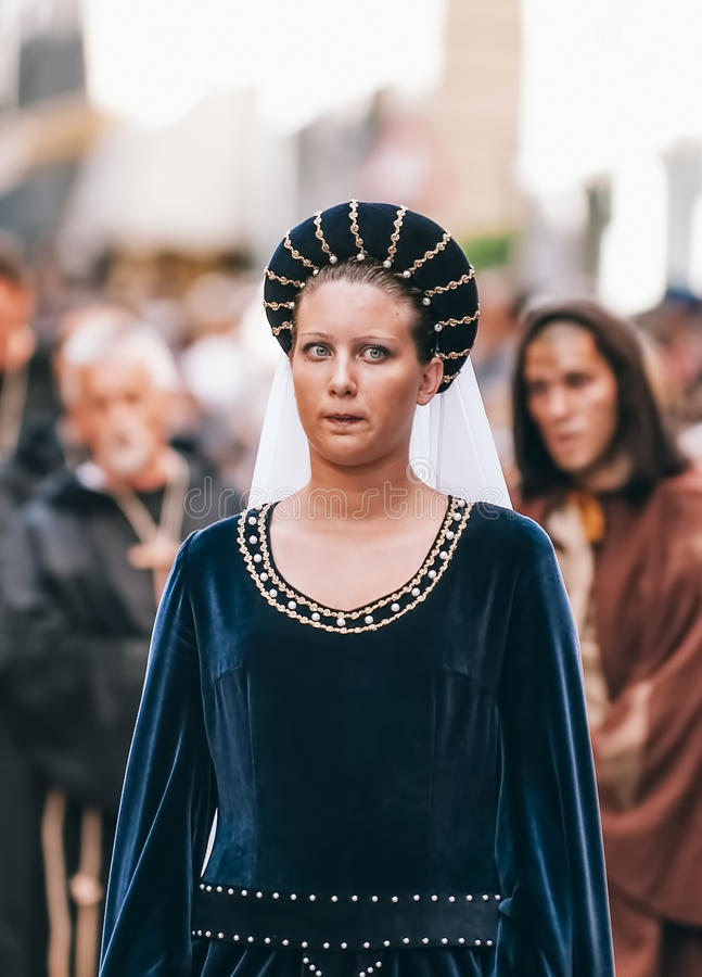 Κυρία των Μεσαιώνων στοκ φωτογραφία με δικαίωμα ελεύθερης χρήσης