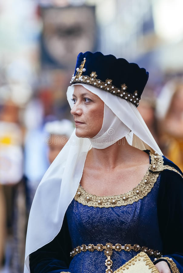 Κυρία των Μεσαιώνων στοκ φωτογραφίες