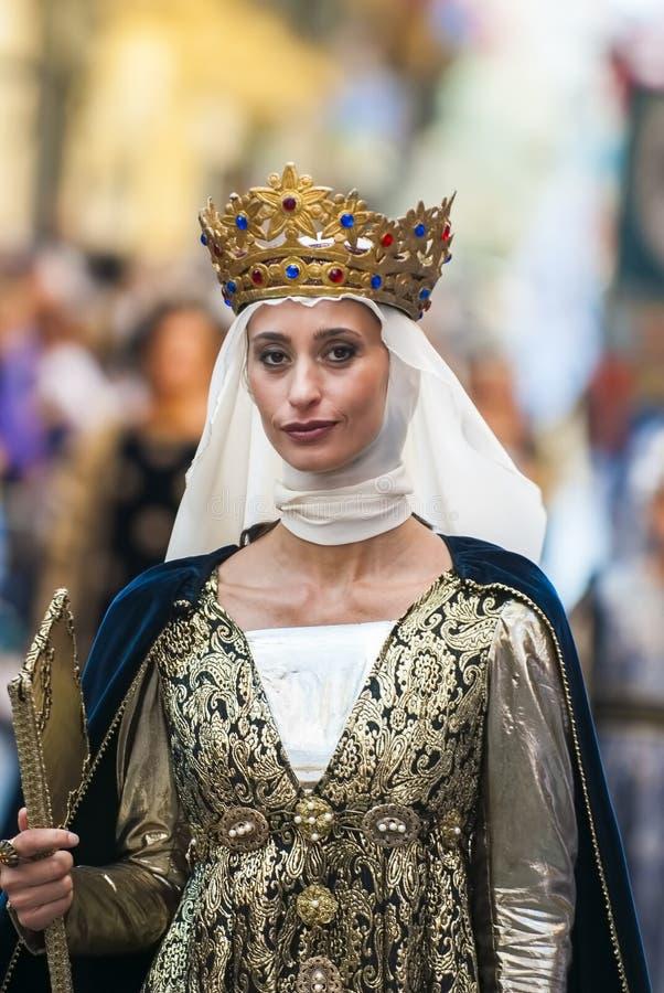 Κυρία των Μεσαιώνων στοκ φωτογραφία