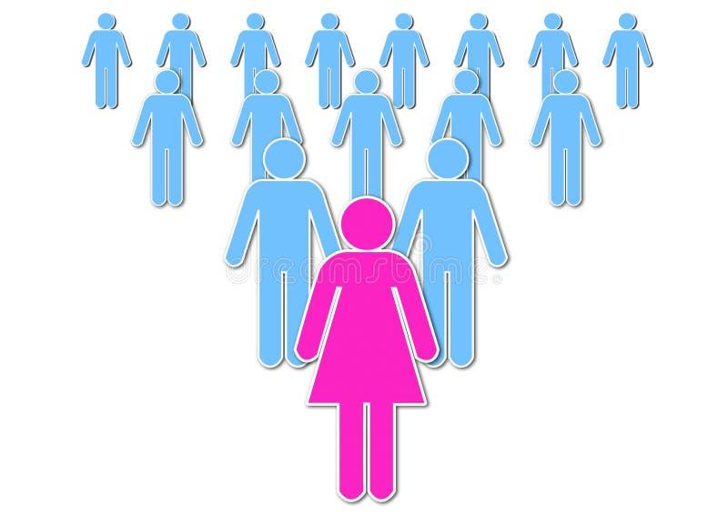 Κυρία Leadership διανυσματική απεικόνιση