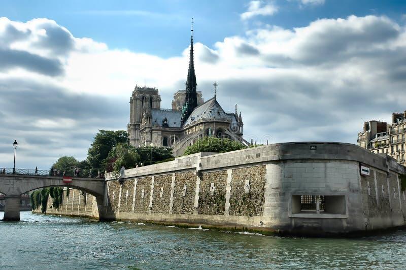 κυρία notre Παρίσι καθεδρικών ναών στοκ φωτογραφία