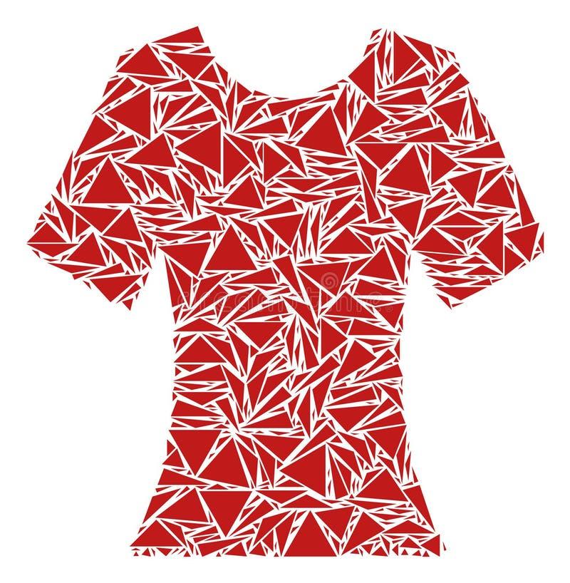 Κυρία T-Shirt Mosaic των τριγώνων ελεύθερη απεικόνιση δικαιώματος