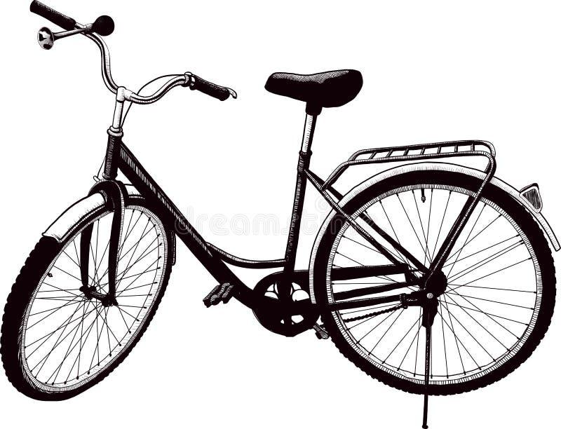 κυρίες ποδηλάτων γηραιές απεικόνιση αποθεμάτων