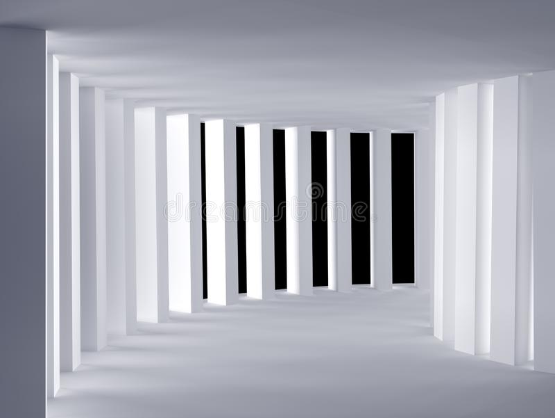 Κυρτή άσπρη κενή αίθουσα - τρισδιάστατη απόδοση Illustation ελεύθερη απεικόνιση δικαιώματος