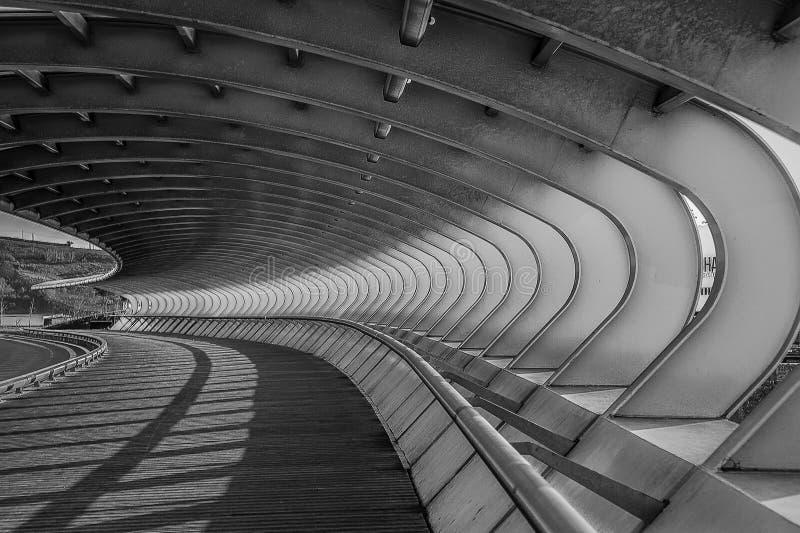 Κυρτή γέφυρα Sestao στοκ φωτογραφίες με δικαίωμα ελεύθερης χρήσης