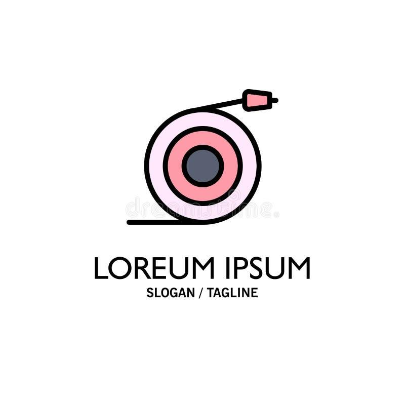 Κυρτός, ροή, σωλήνας, πρότυπο επιχειρησιακών λογότυπων νερού Επίπεδο χρώμα απεικόνιση αποθεμάτων