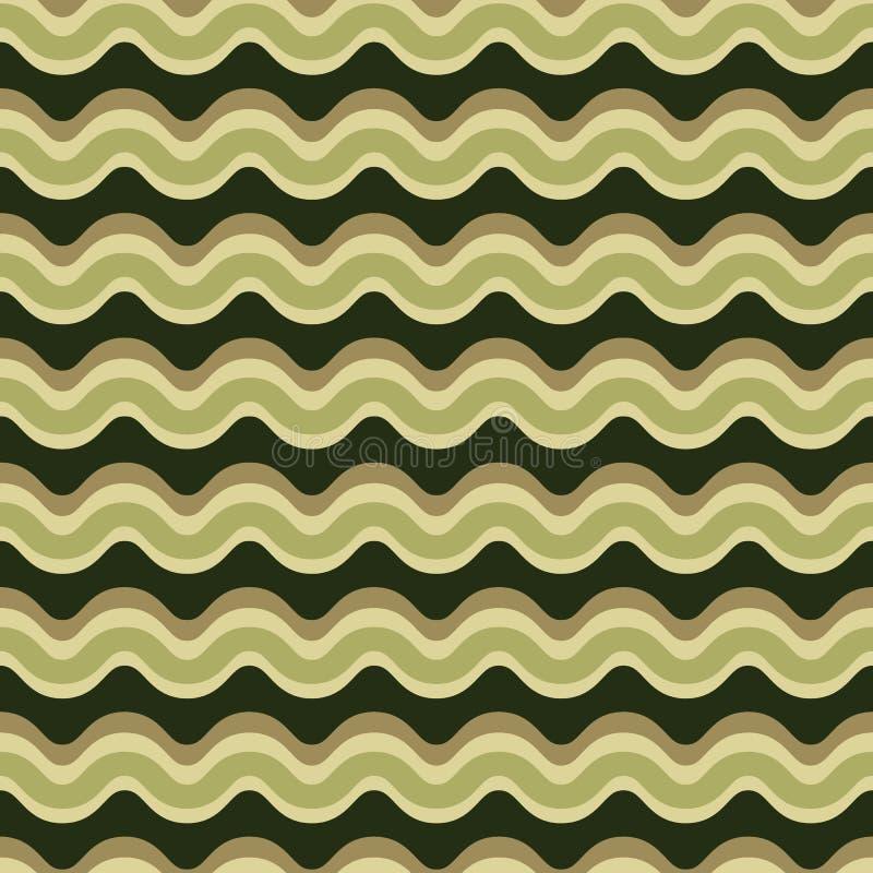 Κυρτό άνευ ραφής διανυσματικό σχέδιο σχεδίων γραμμών Κυματιστή σύσταση λωρίδων διανυσματική απεικόνιση