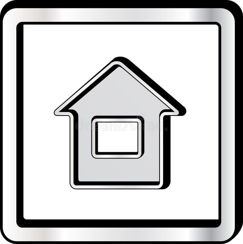 Κυρτό εικονίδιο σπιτιών διανυσματική απεικόνιση