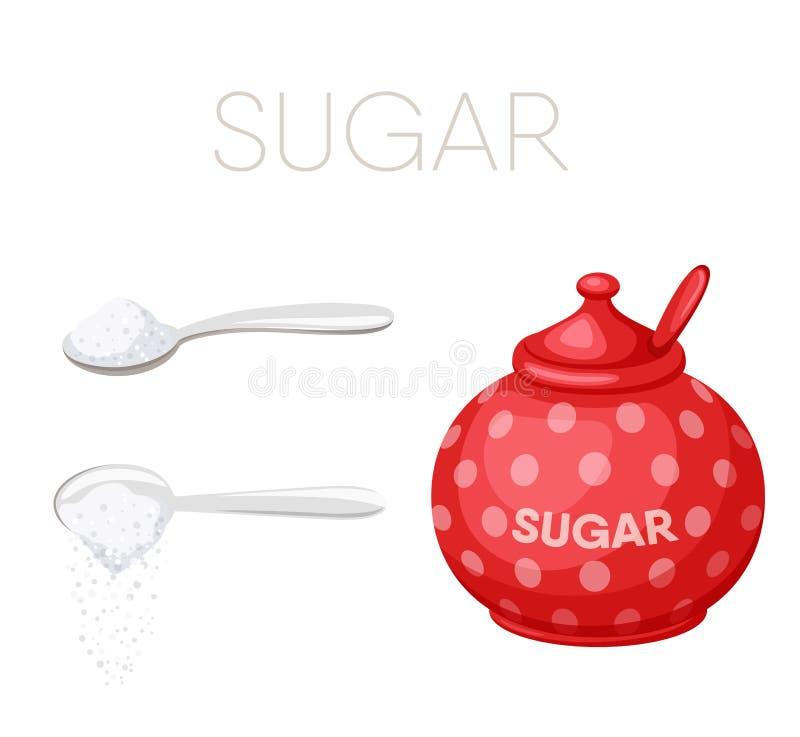 κυλήστε τη ζάχαρη κουτα&lamb απεικόνιση αποθεμάτων