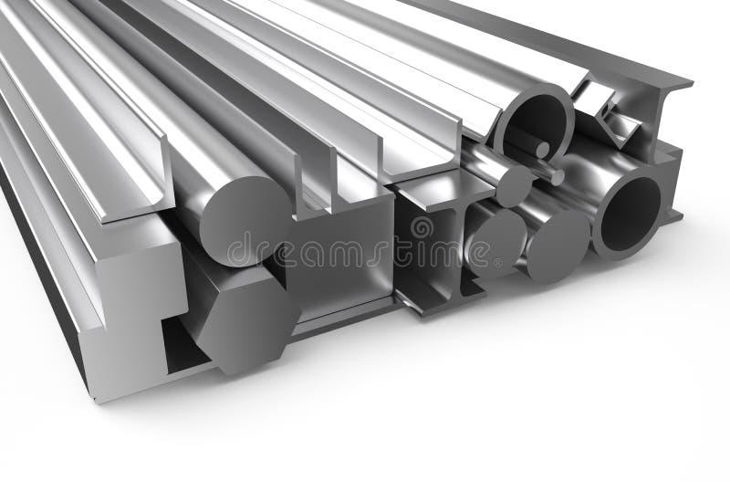 Κυλημένο απόθεμα 3 μετάλλων διανυσματική απεικόνιση