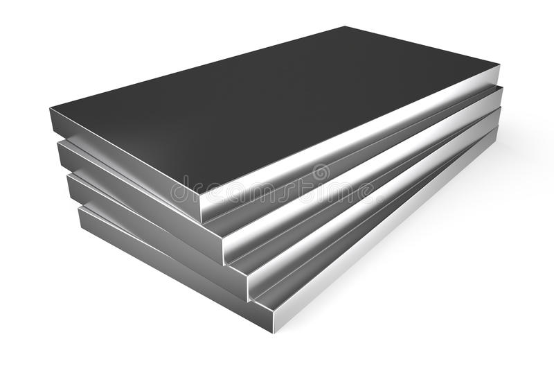 Κυλημένο μέταλλο, φύλλα ελεύθερη απεικόνιση δικαιώματος