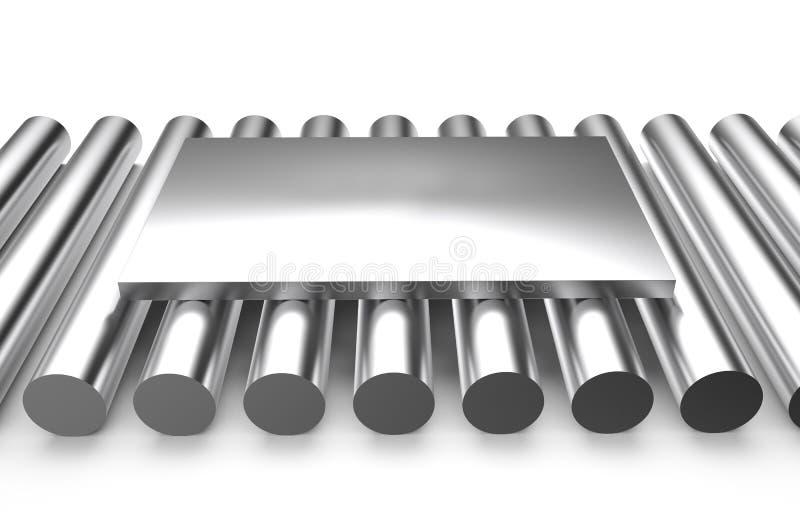 Κυλημένο μέταλλο, φύλλο στους κύκλους απεικόνιση αποθεμάτων