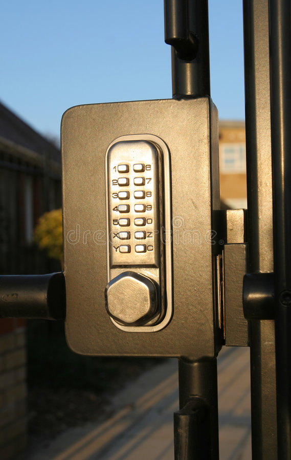 κωδικοποιημένο κλείδωμ& στοκ εικόνα με δικαίωμα ελεύθερης χρήσης