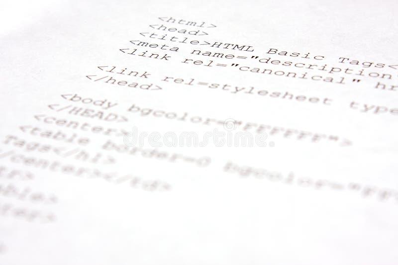 Κωδικός πηγής HTML - HTML 5 στοκ φωτογραφία με δικαίωμα ελεύθερης χρήσης