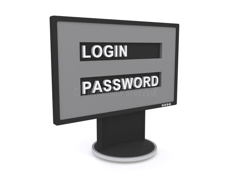 Κωδικός πρόσβασης άδειας εισόδου ελεύθερη απεικόνιση δικαιώματος