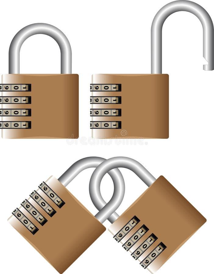 κωδικός πρόσβασης λουκέ& διανυσματική απεικόνιση