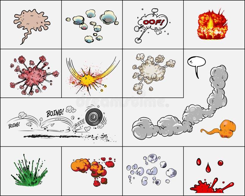 κωμικές εκρήξεις βιβλίων απεικόνιση αποθεμάτων