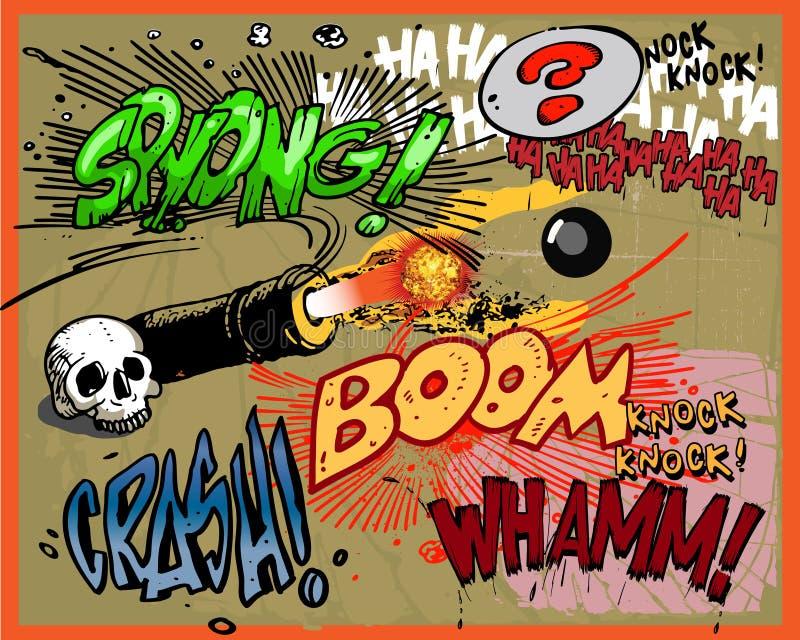 κωμικές εκρήξεις βιβλίων ελεύθερη απεικόνιση δικαιώματος