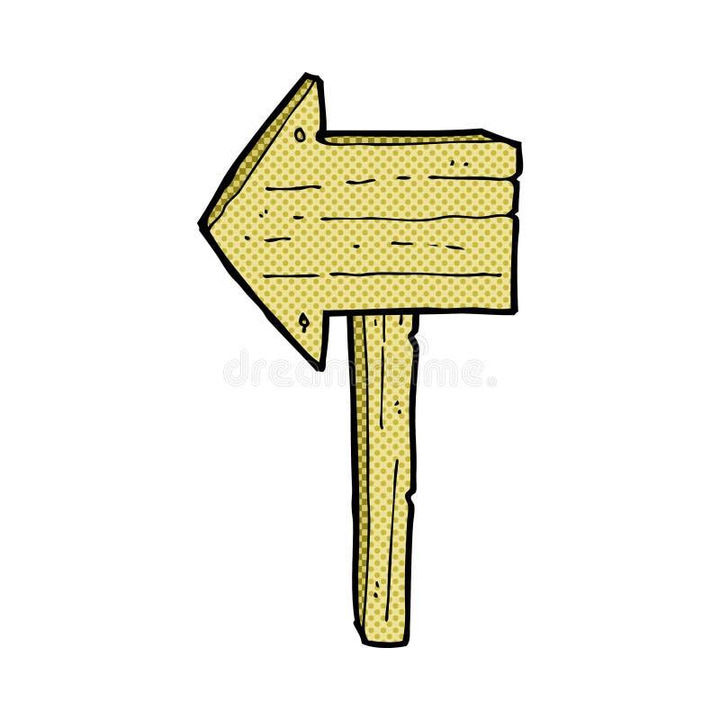 κωμική θέση σημαδιών κινούμενων σχεδίων διανυσματική απεικόνιση