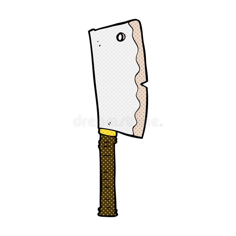 κωμικός μπαλτάς κρέατος κινούμενων σχεδίων ελεύθερη απεικόνιση δικαιώματος
