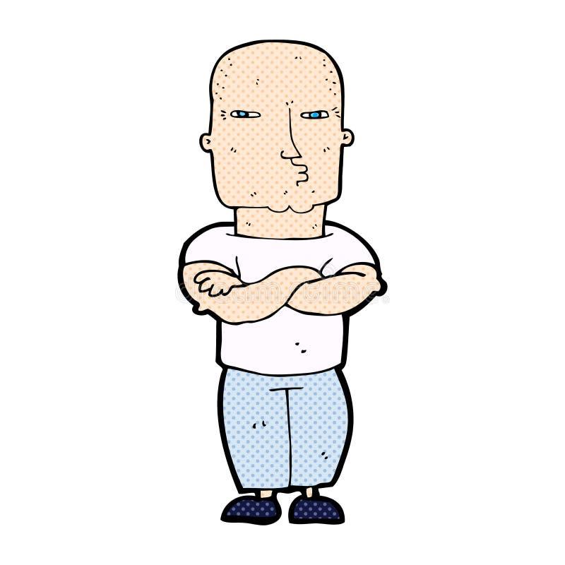 κωμικός σκληρός άνδρας κινούμενων σχεδίων απεικόνιση αποθεμάτων