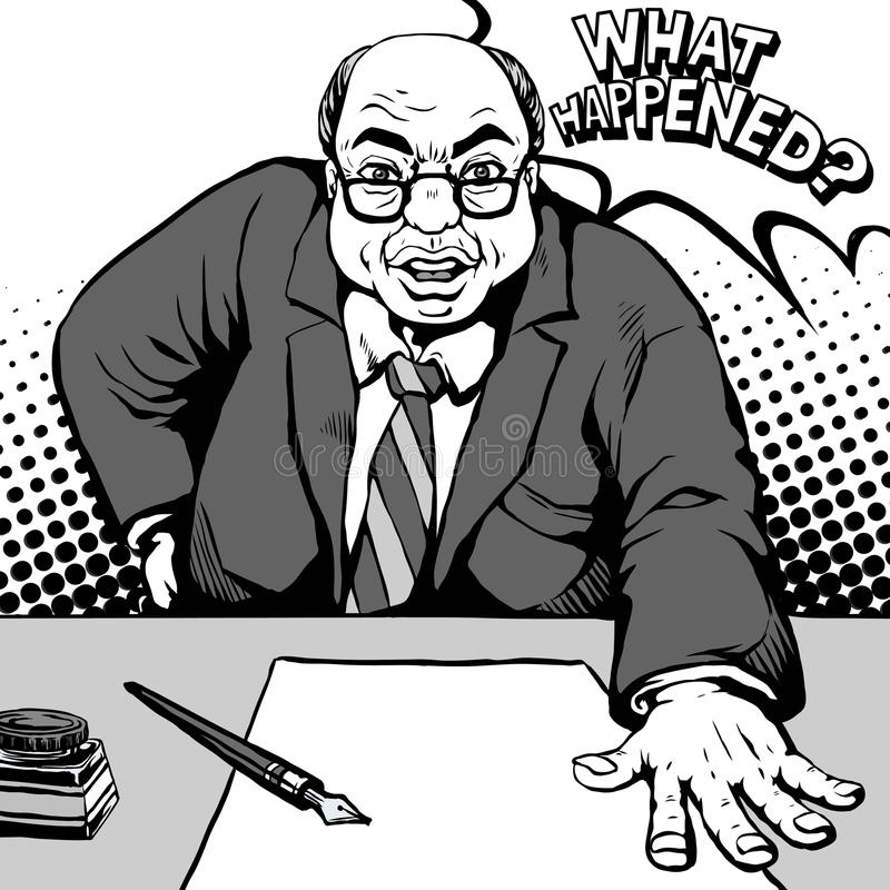 Κωμικός τι συνέβη ελεύθερη απεικόνιση δικαιώματος
