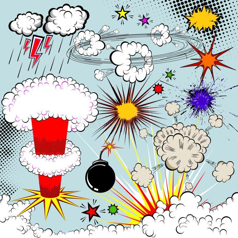 κωμικό διάνυσμα έκρηξης βι&be απεικόνιση αποθεμάτων