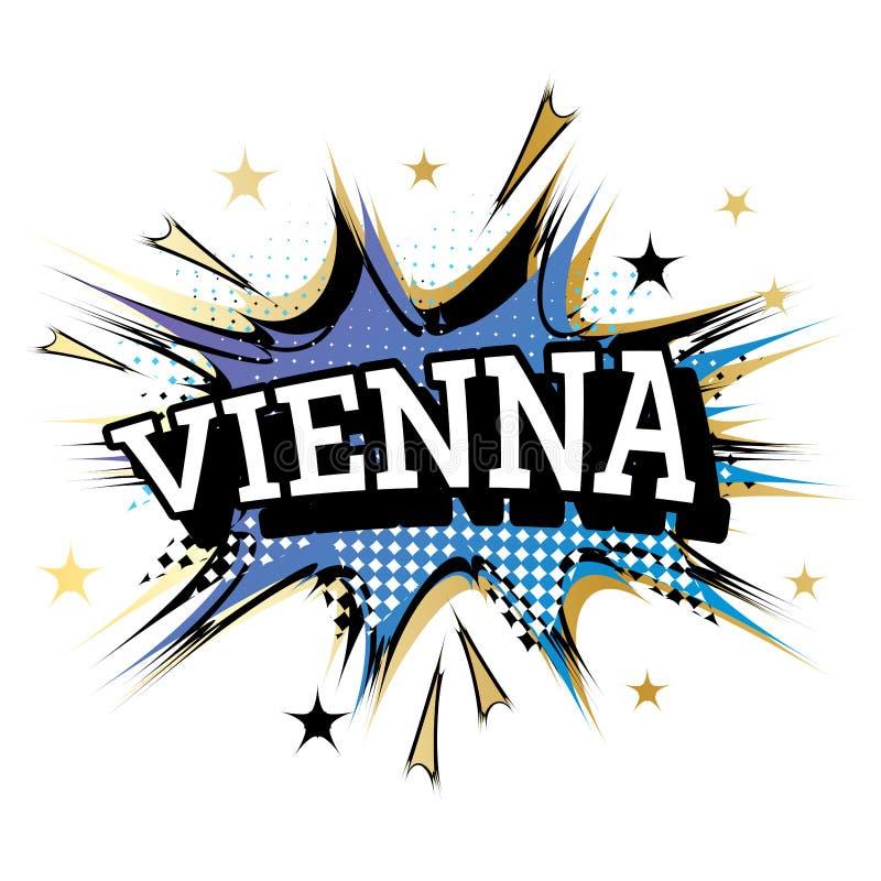 Κωμικό κείμενο της Βιέννης στο λαϊκό ύφος τέχνης διανυσματική απεικόνιση