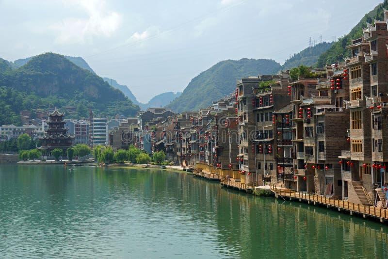 Κωμόπολη της Κίνας, η αρχαία πόλη στοκ εικόνα με δικαίωμα ελεύθερης χρήσης