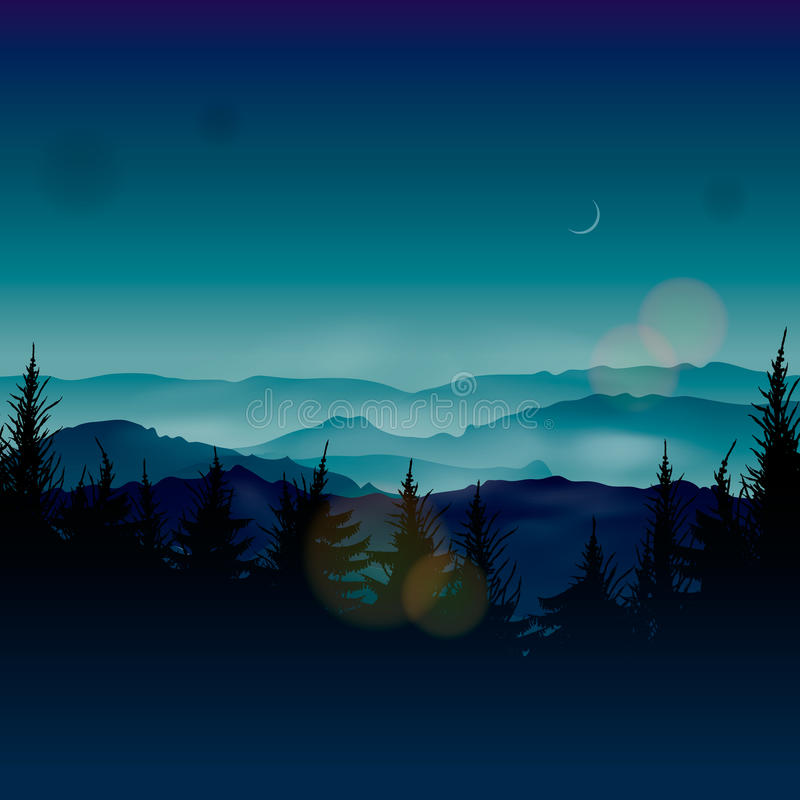 Κωνοφόρα δάση της Misty απεικόνιση αποθεμάτων