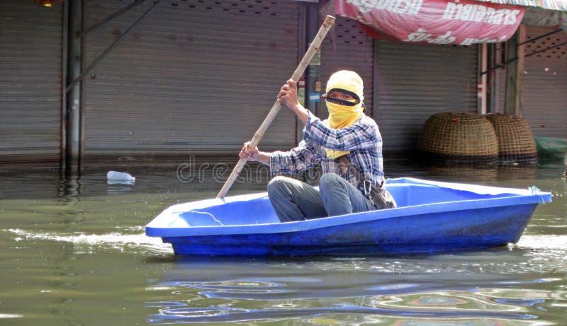 κωπηλασία πλημμυρών στοκ φωτογραφίες με δικαίωμα ελεύθερης χρήσης