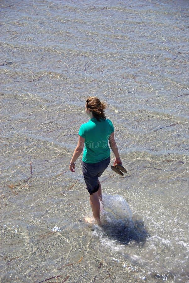 κωπηλατώντας γυναίκα στοκ φωτογραφία με δικαίωμα ελεύθερης χρήσης