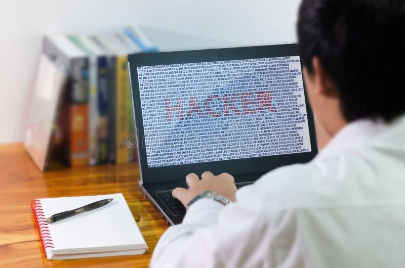 Κωδικοποίηση προγραμματιστών στον υπολογιστή στοκ εικόνα με δικαίωμα ελεύθερης χρήσης